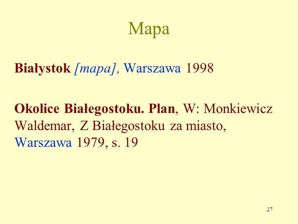 Mapa Białystok [mapa], Warszawa 1998